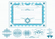 Certificate or coupon in blue color