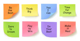 Adhesive Papers with Messages