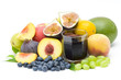 fruit juice and fresh fruits