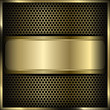 mesh background label gold 3