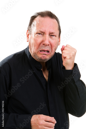 Combative Elderly Man