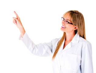 Female doctor pointing