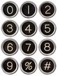 Vintage Typewriter Number Keys
