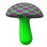 Magic colorful mushroom 3d