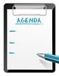 Klemmbrett Agenda