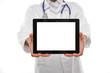 Arzt mit Tablett PC