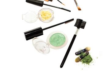 set for eye make-up isolated on white