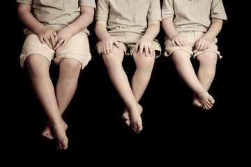 Three Kids hands and Feet