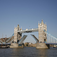 Tower Bridge, lifted.