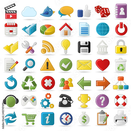 Internet, Website icons Set