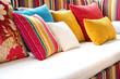 Leinwandbild Motiv colorful pillow