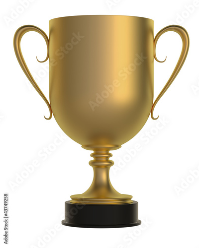 perfectly isolated on a white background Gold Cup