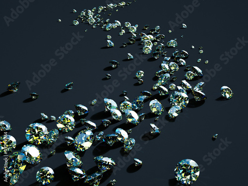 strip of scattered diamonds