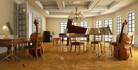 klassisches musikzimmer