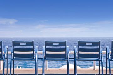 Chaises sur la Promenade des Anglais - Nice, France