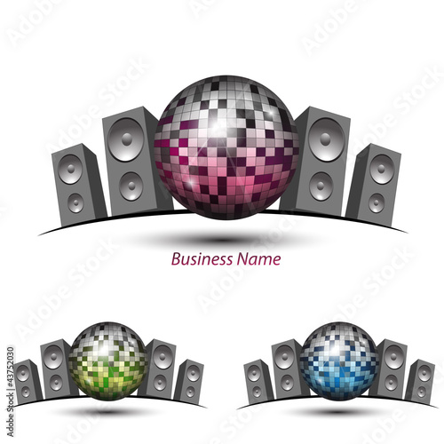 logo disco ball