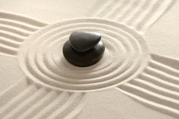Sandbild Zen mit Herz