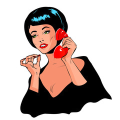 Lady Chatting On The Phone - Retro Clip Art vintage collection