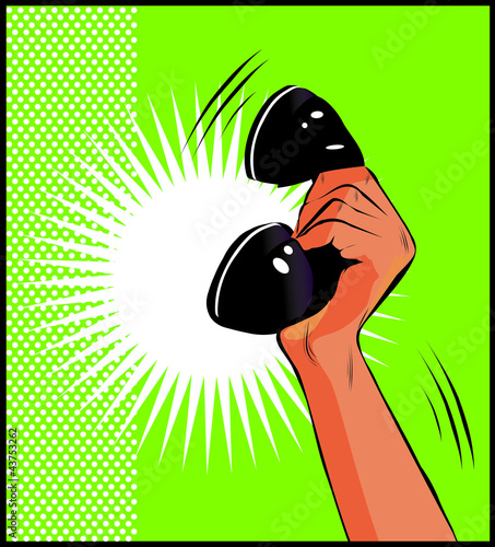 pop-art-ilustracja-dloni-trzymajacej-telefon
