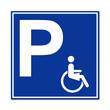 Señal aparcamiento para minusvalidas