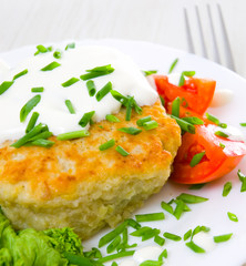 potato pancake stuffed with meat