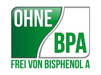 Ohne BPA - Frei von Bisphenol A - Schild