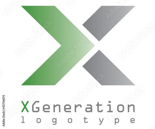 X generation logo