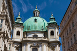 Vienna, Austria - famous Peterskirche (Saint Peter's Church).