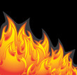 Fiery abstract background