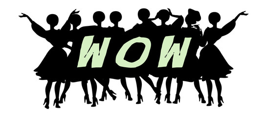Wow - Advertising Headline - Retro Clip Art  popart comic collec
