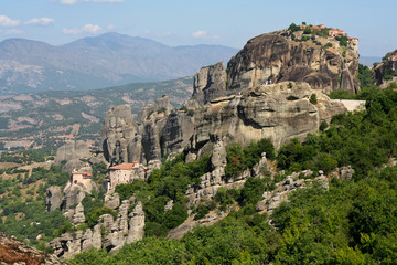 Meteora rock monastery in Greece