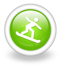 "Light Green Icon ""Snowboarding"""