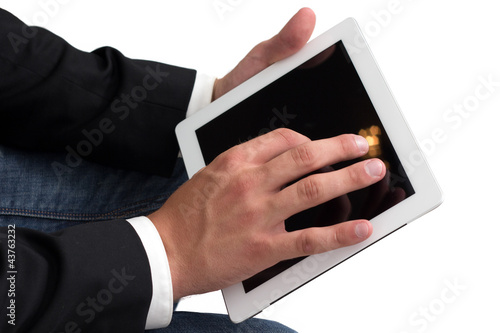 Man working on a tablet pc