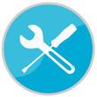 Blaues Schild Werkzeug