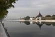 reflection of palace wall in Mandalay, Myanmar