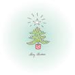 greeting card – merry christmas