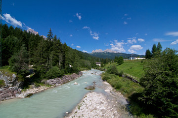 Boite torrent in Dolomites