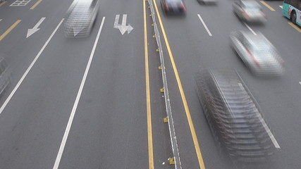 Timelapse of Heavy traffic in Shenzhen,China