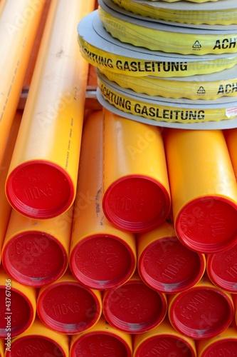 Gasrohre vor der Verlegung - 43767056