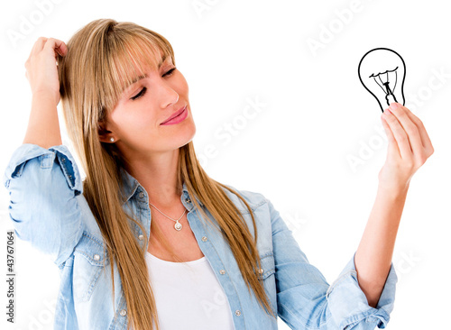 Woman having an idea