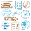 Vector Set of SCHOOL stamps - for design and scrapbook in vector