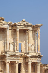 The remains of the enormous Library of Celsus in the city of Eph