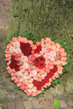 heart shaped sympathy arrangement poster