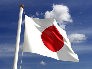 Japan flag (with clipping path)