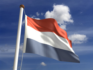 Netherlands flag (with clipping path)