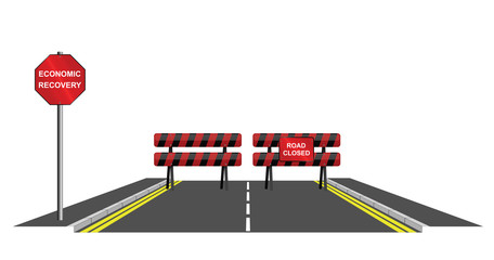 Symbolic road closed to economic recovery