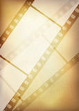 Fototapety Vintage film strip background, vector illustration, EPS10