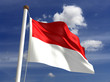 Indonesia flag (with clipping path)