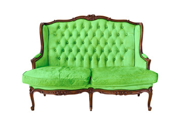 vintage luxury sofa isolated with clipping path