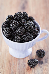 Cup of blackberries